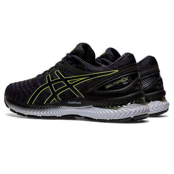 Asics GEL Nimbus 22 Mens Running Shoes, Grey/Lime, rebel_hi-res