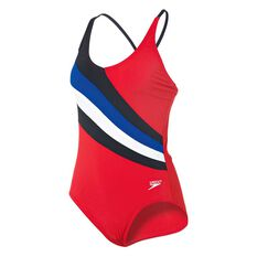 Speedo Womens 70s Swimsuit Multi 8 Adults, Multi, rebel_hi-res