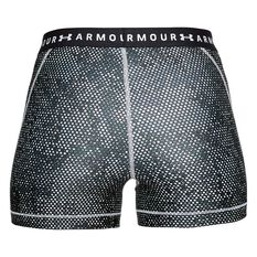 Under Armour Womens HeatGear Armour Printed Shorty Shorts Black / White XS Adult, Black / White, rebel_hi-res