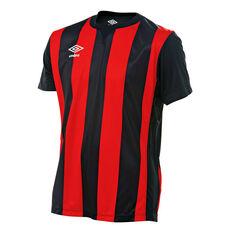 Umbro Kids Striped Jersey Black / Red XS, Black / Red, rebel_hi-res