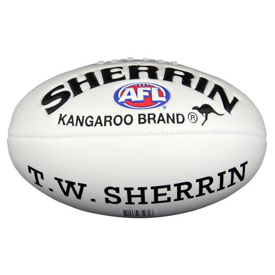 Sherrin Super Soft Touch Junior Australian Rules Ball White 8in, , rebel_hi-res