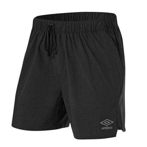 Umbro Mens 5in Performance Training Shorts, Black, rebel_hi-res