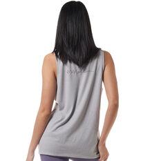 Ell & Voo Womens Taylor Logo Muscle Tank Grey XXS, Grey, rebel_hi-res