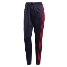 adidas Womens ID 3 Stripes Snap Pants Navy XS, Navy, rebel_hi-res