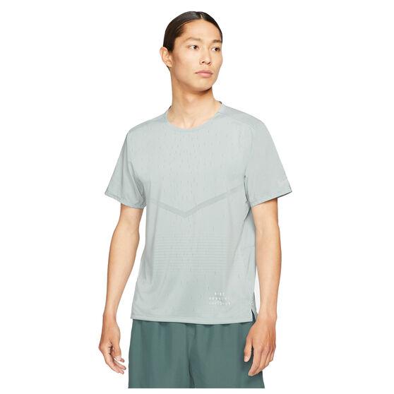 Nike Mens Run Division Rise 365 Tee, Grey, rebel_hi-res