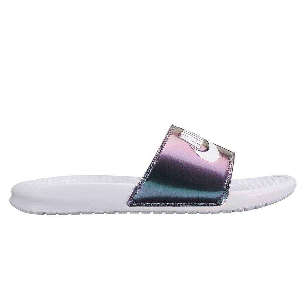 pretty nice 34957 ff03b Nike Benassi Womens Slides White US 6, White, rebel hi-res