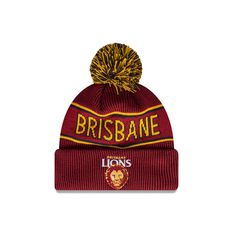 Brisbane Lions New Era Supporter Beanie Red OSFA, Red, rebel_hi-res