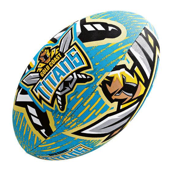 Steeden NRL Gold Coast Titans 11in Supporter Rugby League Bal, , rebel_hi-res