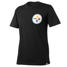 Pittsburgh Steelers Mens Drimer Tee Black S, Black, rebel_hi-res