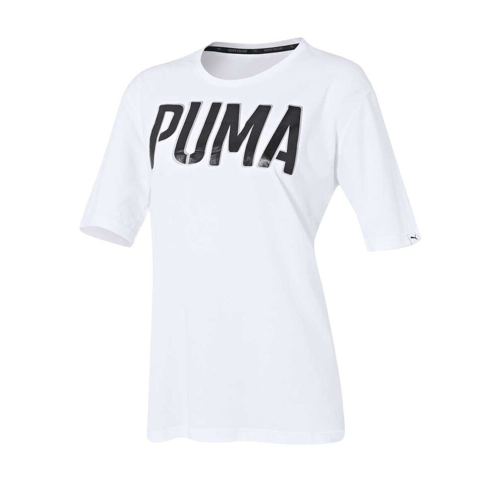a04d1a3fd63 Puma Womens Style Athletic Loose Tee White 8 Adult, White, rebel_hi-res