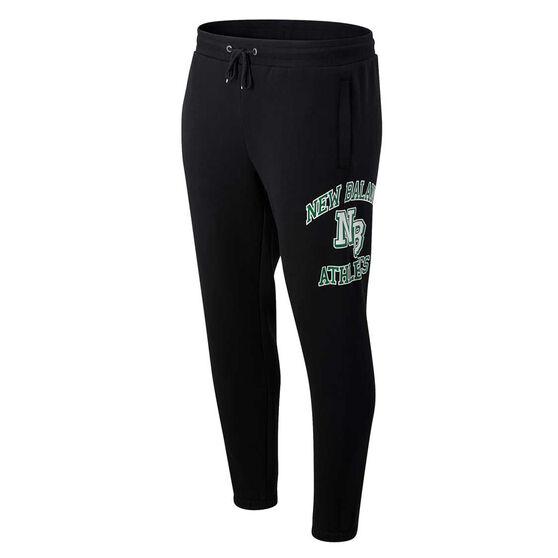 New Balance Athletics Mens Varsity Track Pants, Black, rebel_hi-res