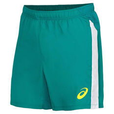 Cricket Australia 2020/21 Mens Training Shorts Green S, Green, rebel_hi-res