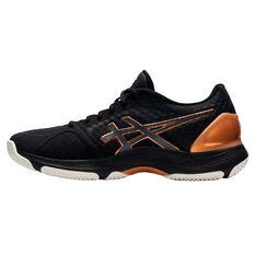 Asics Netburner Super FF Womens Netball Shoes Black/Bronze US 7, Black/Bronze, rebel_hi-res