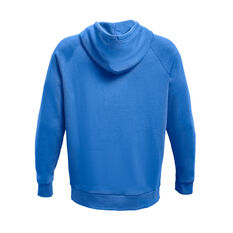 Under Armour Mens Rival Fleece Logo Hoodie Blue XS, Blue, rebel_hi-res