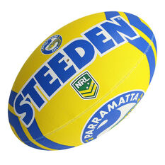 Steeden NRL Parramatta Eels Supporter Rugby League Ball, , rebel_hi-res