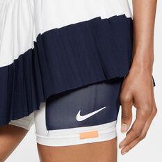 NikeCourt Womens Slam Tennis Skirt White XS, White, rebel_hi-res