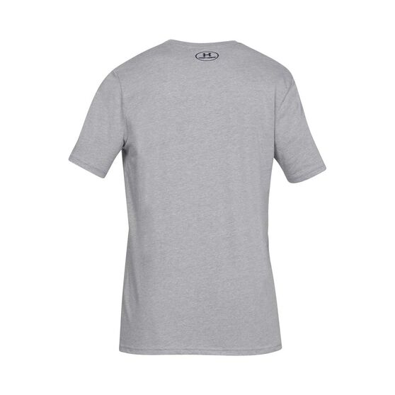 Under Armour Mens Sportstyle Logo Tee, Grey, rebel_hi-res