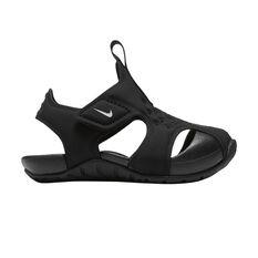 Nike Sunray Protect 2 Toddler Shoes Black / White US 2, Black / White, rebel_hi-res
