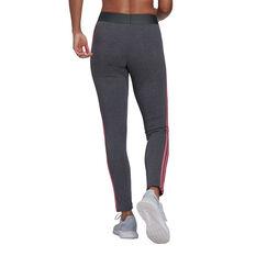 adidas Womens Loungewear Essentials 3-Stripes Tights Grey XS, Grey, rebel_hi-res