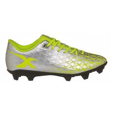 X Blades Flash Junior 18 Football Boots Silver/Yellow US 11 Junior, , rebel_hi-res