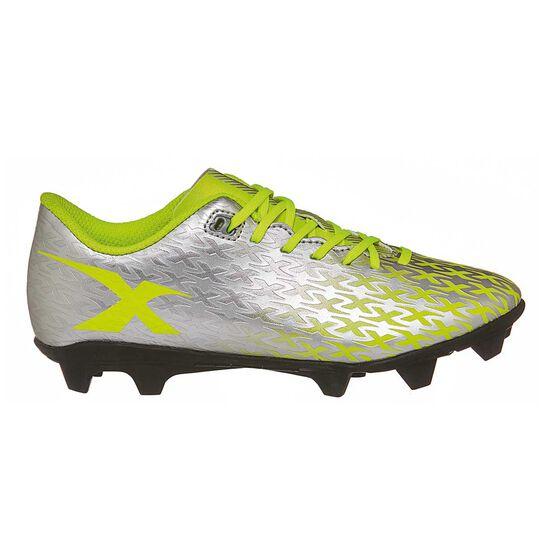 X Blades Flash Junior 18 Football Boots Silver/Yellow US 6 Junior, , rebel_hi-res