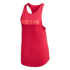 adidas Womens Essentials Linear Tank Pink XS, Pink, rebel_hi-res