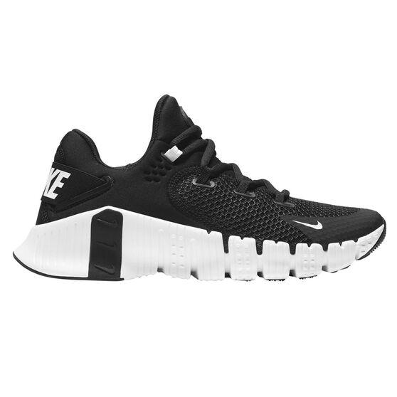 Nike Free Metcon 4 Womens Training Shoes, Black/White, rebel_hi-res