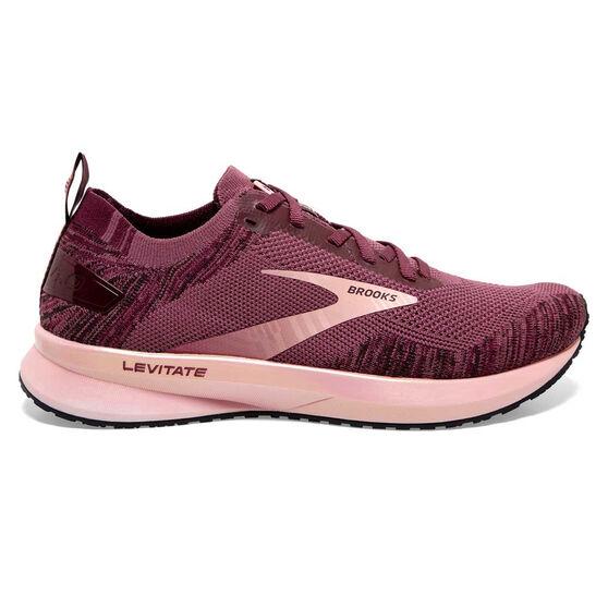 Brooks Levitate 4 Womens Running Shoes, Purple, rebel_hi-res