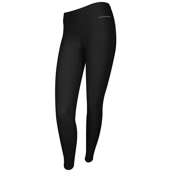 Running Bare Womens Bionic Full Length Tights Black 16, Black, rebel_hi-res