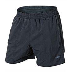 Speedo Mens Solid Leisure Swim Shorts Carbon S Adult, Carbon, rebel_hi-res