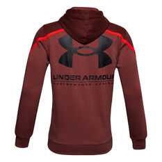 Under Armour Mens Rival Max Fleece Hoodie Red L, Red, rebel_hi-res