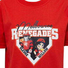 Melbourne Renegades 2019/20 Kids Mascot Tee Red 8, Red, rebel_hi-res