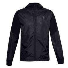 Under Armour Mens Project Rock Legacy Windbreaker Black S, Black, rebel_hi-res