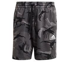 adidas Mens French Terry Camouflage Shorts Grey XS, Grey, rebel_hi-res