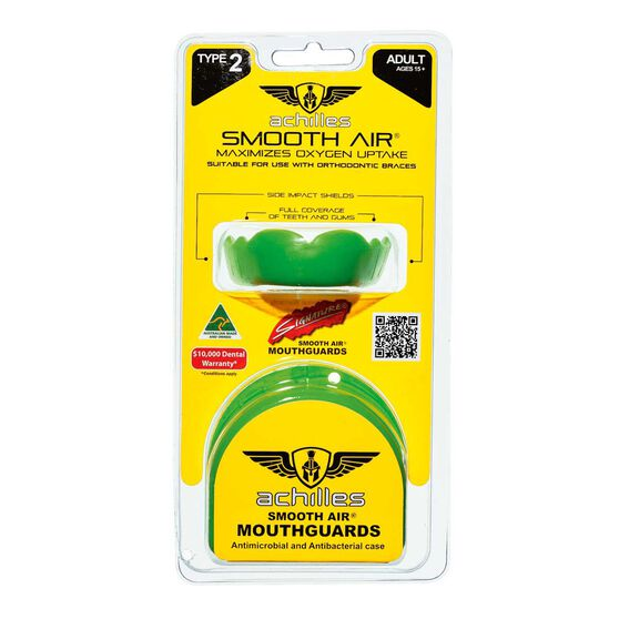 Achilles Type 2 Standard Mouthguard, Green, rebel_hi-res