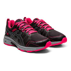 Asics GEL Venture 7 Kids Running Shoes, Black / Pink, rebel_hi-res