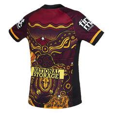 Brisbane Broncos 2021 Kids Indigenous Jersey Maroon S, Maroon, rebel_hi-res