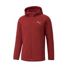 Puma Mens EvoStripe Full-Zip Hoodie Red XS, Red, rebel_hi-res