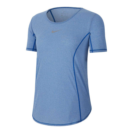 Nike Womens Running Tee, Blue, rebel_hi-res