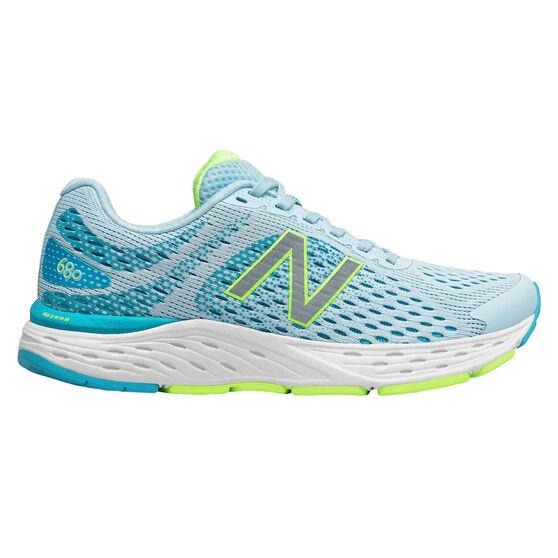 New Balance 680 Womens Running Shoes, Blue, rebel_hi-res