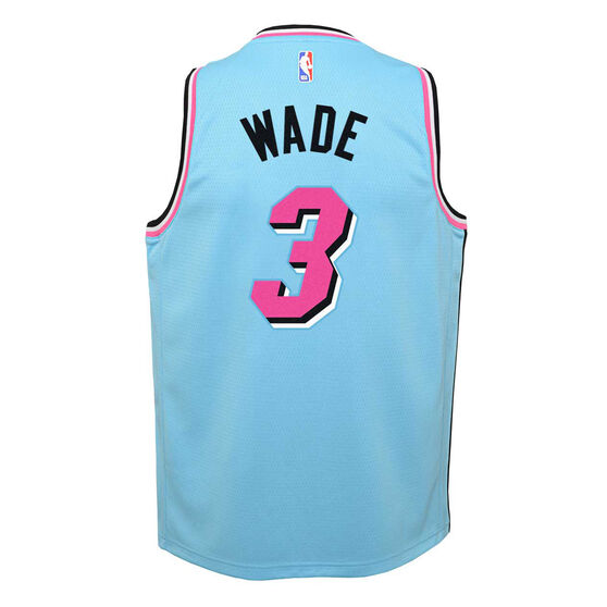 Nike Miami Heat Dwayne Wade 2019/20 Youth City Edition Jersey Blue S, Blue, rebel_hi-res