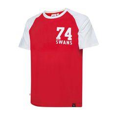 Sydney Swans Mens Raglan Sleeve Tee, , rebel_hi-res