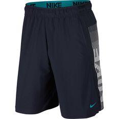 Nike Mens Dri-FIT Training Shorts Navy S, Navy, rebel_hi-res