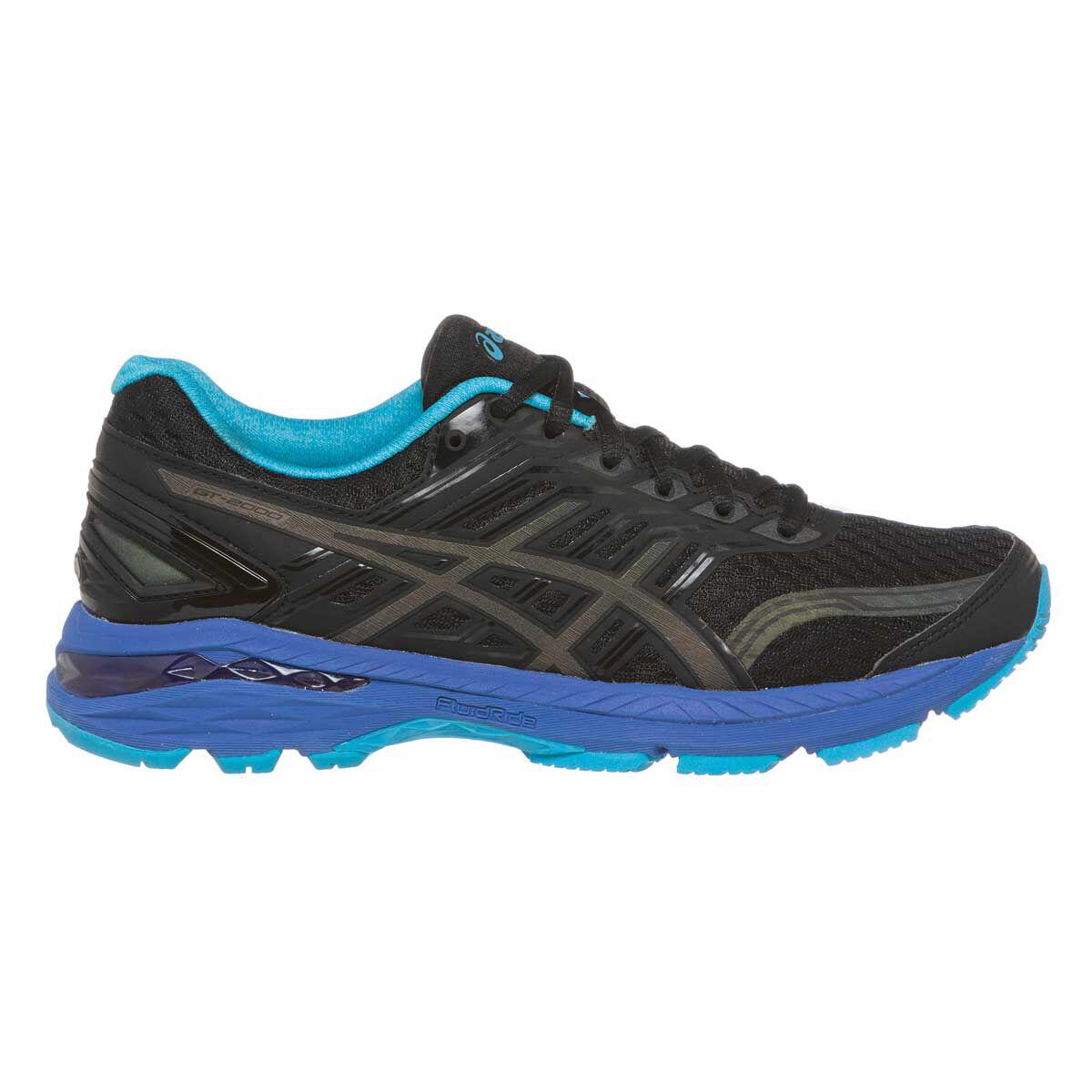 Asics GT 2000 5 Lite Show Womens Running Shoes Black / Blue US 7.5