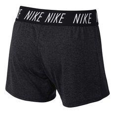 Nike Girls Dri-FIT Training Shorts Black / White XS, Black / White, rebel_hi-res