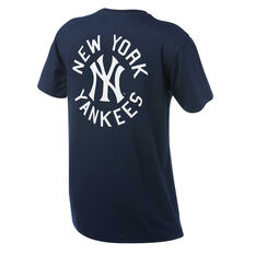 New York Yankees Mens Drimer Tee Navy S, Navy, rebel_hi-res