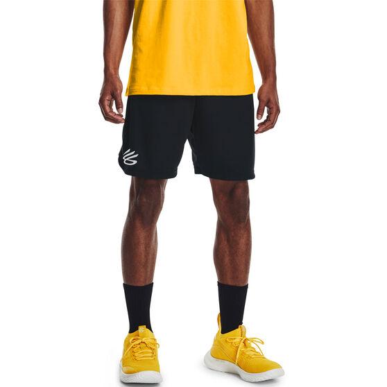 Under Armour Mens Curry UNDRTD Splash Shorts, Black, rebel_hi-res