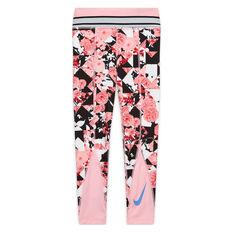 Nike Girls One Training Tights Pink/Blue S, Pink/Blue, rebel_hi-res