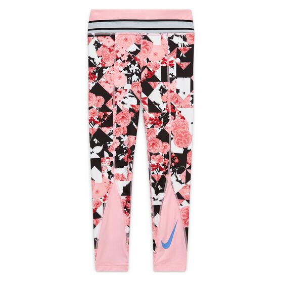 Nike Girls One Training Tights, Pink/Blue, rebel_hi-res