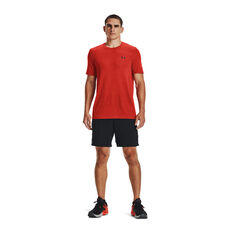 Under Armour Mens Seamless Short Sleeve Tee Red S, , rebel_hi-res